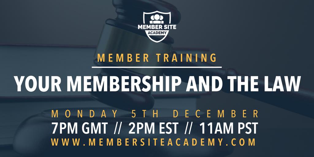 Membership training - promo graphic