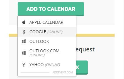 Add to calendar buttons