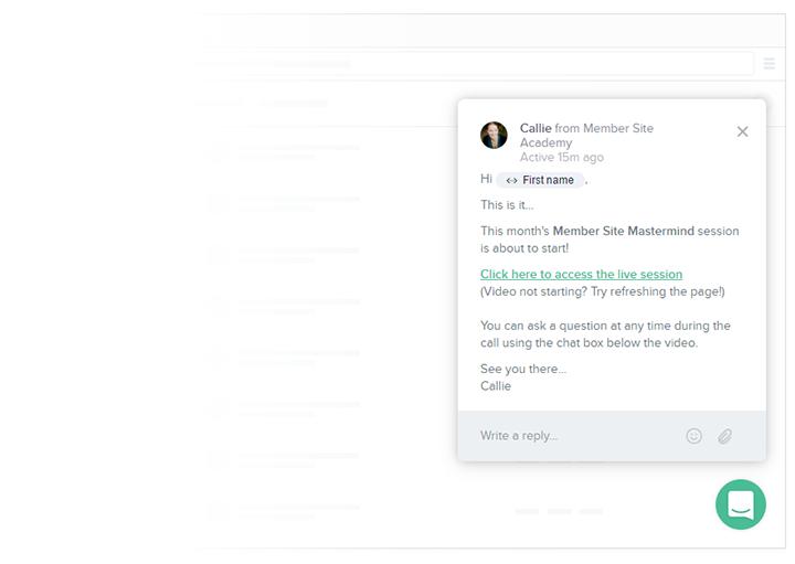 Intercom site messaging